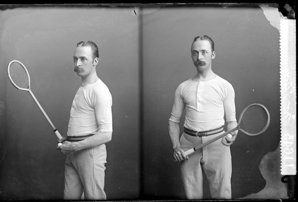 old-squash-racquet